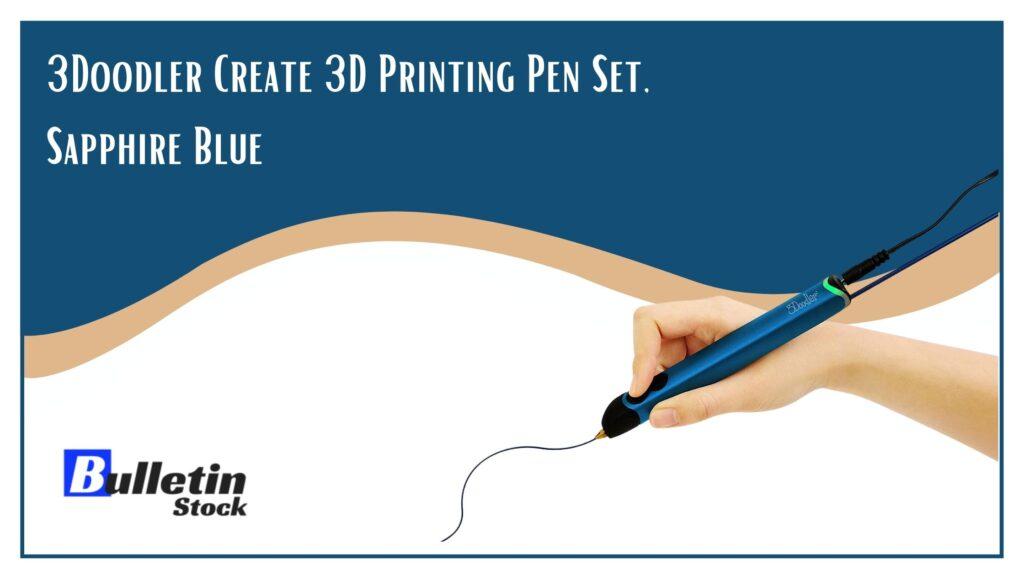 3Doodler Create 3D Printing Pen Set, Sapphire Blue