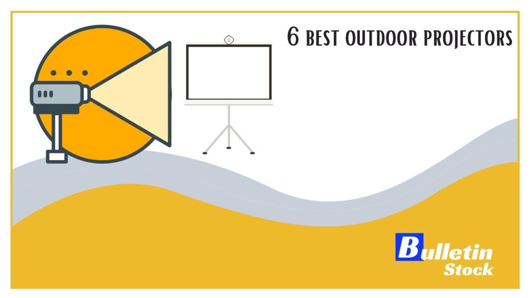 6 best outdoor projectors banner