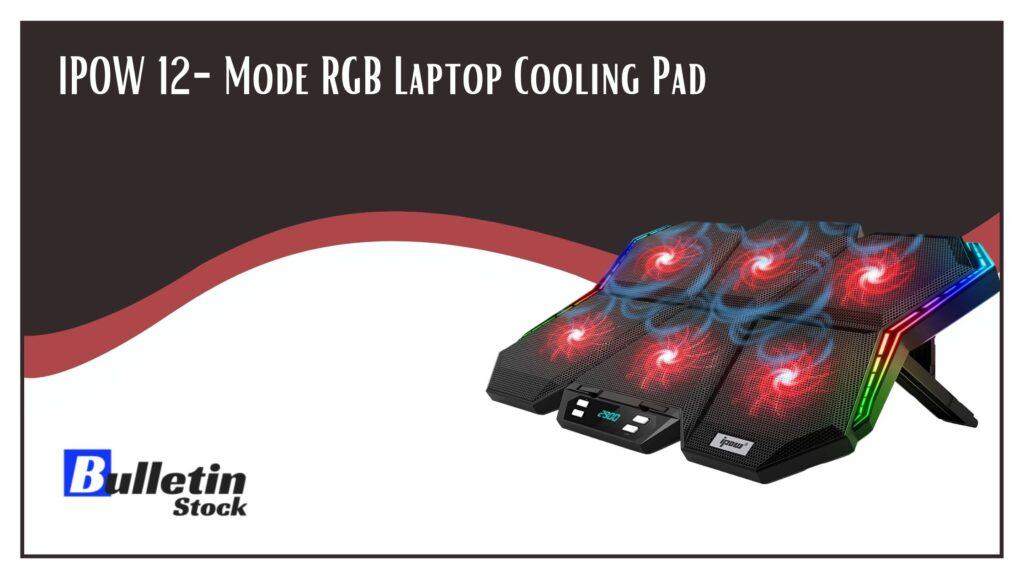 IPOW 12-Mode RGB Laptop Cooling Pad