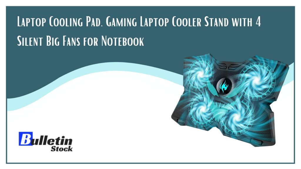 Lingster Gaming Laptop Cooling Pad with 4 fans