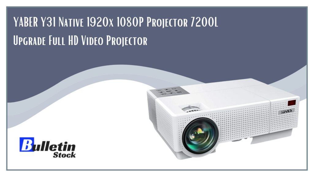 YABER Y31 Native 1920x 1080P Projector 7200L Upgrade Full HD Video Projector