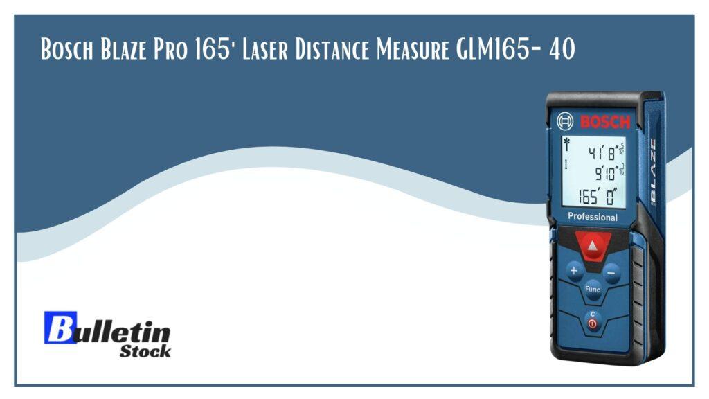 Bosch Blaze Pro 165 Laser Distance Measure