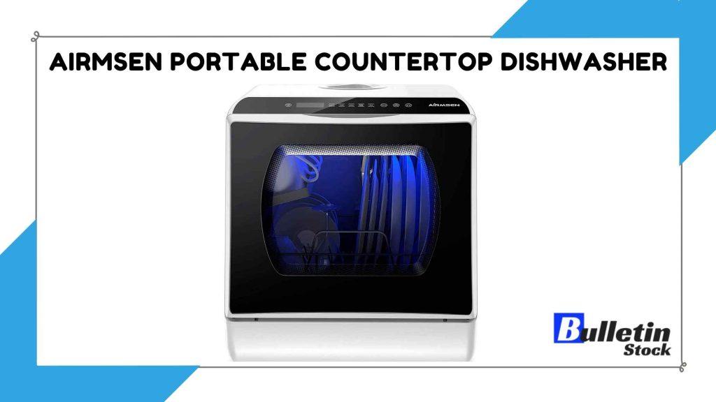 AIRMSEN Portable Countertop Dishwasher