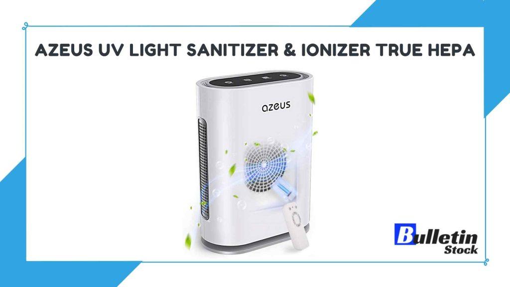 AZEUS UV Light Sanitizer & Ionizer True HEPA Air Purifier