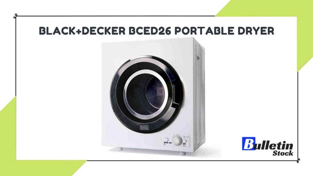 BLACK+DECKER BCED26 Portable Dryer