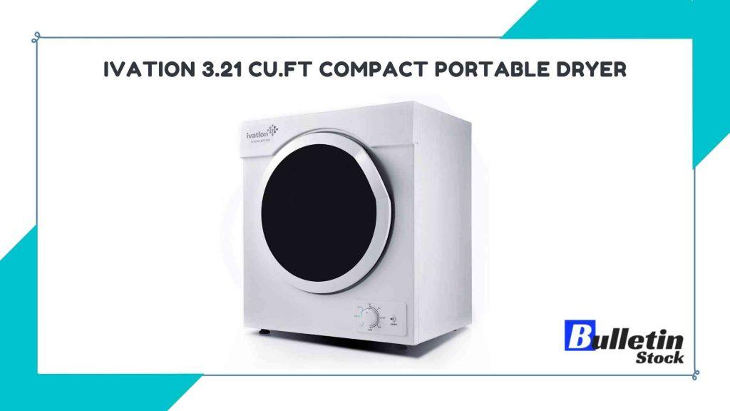 Ivation 3.21 cu.ft Compact Portable Dryer